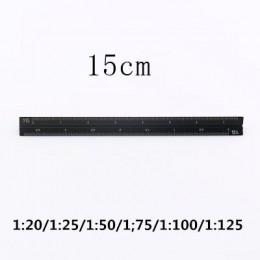 TUTU wysokiej jakości kolorowe 15cm aluminium trójkątne linijka krawiecka aluminium 1:20-1: 600 alloy metal scale regua desenho