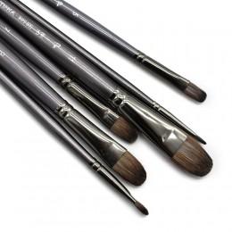 6 sztuk/zestaw profesjonalne wysokiej jakości narzędzie wiewiórka olejek do włosów pędzel do malowania pędzel Filbert Pen do mal