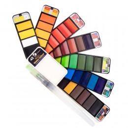 Superior 18/25/33/42 kolor stały zestaw akwareli z pędzel wodny przenośny Pigment kolorowy dla początkujących materiały do rysow