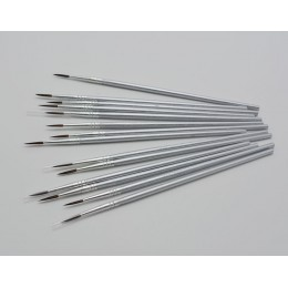 10 sztuk/zestaw nylonowe włosy srebrny pręt hak linia długopis pędzel do malowania dzieci sztuka diy materiały piśmienne pędzle
