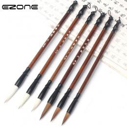 EZONE wełniany łasica szczotka do kaligrafii chiński pędzel do pisania na rysunek artystyczny akwarela tusz do malowania w szkol