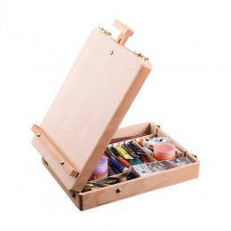 Drewniane sztalugi na malarstwo szkic sztalugi stół kreślarski Box farba olejna akcesoria do laptopa akcesoria do malowania dla