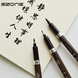 EZONE 3 sztuk różnej wielkości pędzel do pisania chińska kaligrafia nylonowe włosy pędzelek do zdobień do podpisu do rysowania a