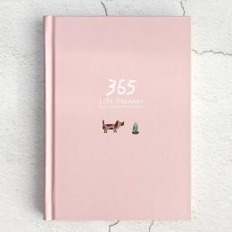 1 pc 365 notatnik organizator roczna Agenda kolorowe wewnętrzna strona ilustracja codzienny Plan Bullet Journal Record Life biur
