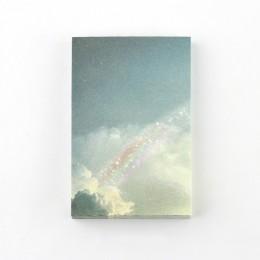 Mr Paper 100 sztuk/partia ins stylowe tęczowa gwiazda zachód słońca fale luźny liść notatniki minimalistyczny zapisz punkty Arts