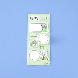 60 arkuszy/paczka Kawaii koty chłopcy śliczne karteczki Memo Pad płatek naklejki biuro szkolne szkolne materiały papiernicze