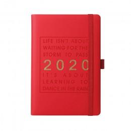 New Fashion Agenda 2020 zagęścić notebook A5 skóra miękka Planner 2020 jan-dec wydajność dziennik język angielski