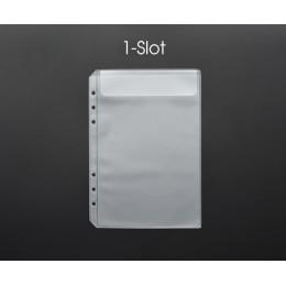 MaoTu luźny liść PVC worek do przechowywania naklejki Ticket organizer do kart torba z klapką A5 A6 notes spiralny pamiętnik cew