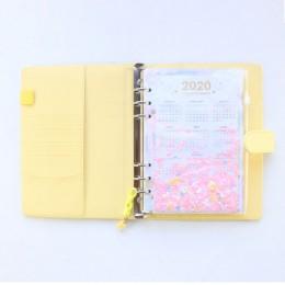 2020 nowy macaron office school notatnik na sprężynie piśmiennicze, śliczne osobiste binder terminarz tygodniowy agenda organiza