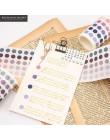 336 sztuk/partia w kolorowe kropki taśmy Washi japoński papier diy planista taśma klejąca taśmy naklejki dekoracyjne taśmy papie