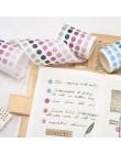 Śliczne Bullet Journal zestaw taśm Washi Kawaii Gradient Dot taśmy maskujące dla dzieci DIY ozdobny pamiętnik Scrapbooking Photo