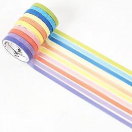 10 rolek/paczka kreator Rainbow złocenie zestaw taśm washi Diy dekoracji Scrapbooking planowanie taśma klejąca naklejki etykiety