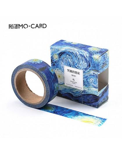 1 sztuk taśmy washi DIY obraz van gogha papierowa taśma maskująca klej dekoracyjny taśmy naklejki do scrapbookingu rozmiar 15 mm