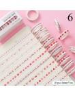 10 sztuk/zestaw śliczne Bullet Journal zestaw taśm washi Kawaii taśmy maskujące dla dzieci DIY ozdobny pamiętnik Scrapbooking Ph
