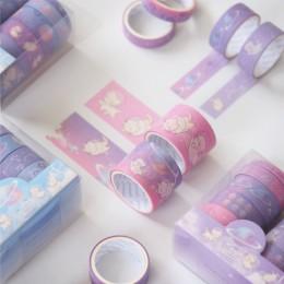 10 sztuk/paczka kot gwiazda chodzenia dekoracyjne taśmy Washi zestaw DIY Scrapbooking taśma maskująca szkolne materiały biurowe
