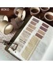 WOKO 10 rolek Retro Pure Color taśma maskująca przylepna las kolor kolaż Bullet Journal materiał Deco Washi taśma diy do scrapbo