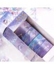 4 sztuk/paczka wiśnia Sakura gwiaździste niebo złocenie Bullet Journal zestaw taśm washi klej taśma diy do scrapbookingu etykiet