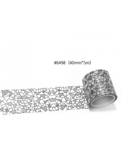 Darmowa wysyłka taśma washi, taśma Anrich washi 19 wzorów do wyboru w 40mm * 5 m, 6498-6521, może pisać taśmę, podstawowy proje