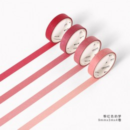 Kolor miłość seria Washi taśma maskująca przyklejony papier dekoracyjny zestaw taśm DIY dekoracje materiały biurowe księga gości