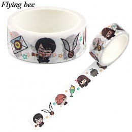 Flyingbee 15mmX5m moda Washi taśma klejąca DIY dekoracyjna taśma klejąca biurowe fajne taśmy maskujące materiały X0776