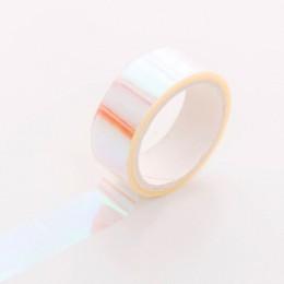 Rainbow Gradient taśma maskująca naklejki zestaw taśm Washi koreański stacjonarny śliczne Kawaii Scrapbooking samoprzylepna taśm