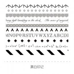 10 sztuk/paczka maskująca taśma washi zestaw Vintage geometryczne śliczne dekoracyjne etykiety naklejki do scrapbookingu Album d