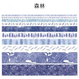 10 sztuk/pudło Starry Sky jednorożec Washi zestaw taśm maskujących taśmy Washi Scrapbooking klej dekoracyjny taśmy papieru japoń
