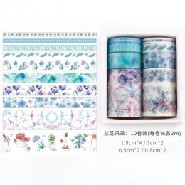 10 rolek/dużo dekoracje z czterech pór roku Washi taśma diy do scrapbookingu etykieta samoprzylepna taśma maskująca biuro prezen