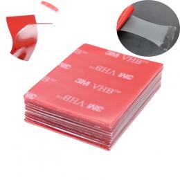 10 pc/3 M przezroczysta taśma gumowa pianka podwójne boki pokryte klejem mocna pasta czerwona przezroczysta dno materiały biurow