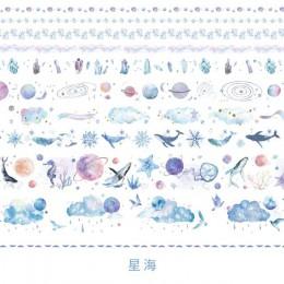 10 rolek maskująca taśma washi zestaw vintage, w kwiaty roślina Flamingo dekoracyjna naklejka Diy etykieta samoprzylepna do scra
