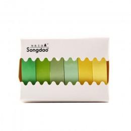 6 sztuk/zestaw Pure Color Washi papierowa taśma maskująca zestaw śliczne Makaron etykieta samoprzylepna naklejki do scrapbooking