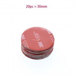 20 sztuk czerwone okrągłe VHB podwójna taśma dwustronna silne lepkie szare materiały piśmiennicze z tworzyw sztucznych wodoodpor