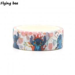 Flyingbee 15mmX5m kreatywny motyw Washi taśma klejąca DIY dekoracyjna taśma klejąca papiernicze Cartoon taśmy maskujące materiał