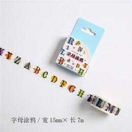 Artykuły papiernicze tematyczny design taśmy Washi dekoracji klej taśma diy do scrapbookingu etykieta samoprzylepna taśma maskuj