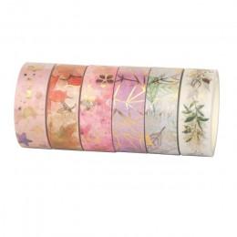 6 rolek/zestaw kwiat taśmy washi Tape kwiatowy dekoracyjny taśma Scrapbooking Album fotograficzny narzędzia szkolne Kawaii papie