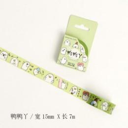 Urocze zwierzęta koty Washi taśma dekoracyjna taśma klejąca diy wystrój naklejki scrapbooking etykiety papiernicze