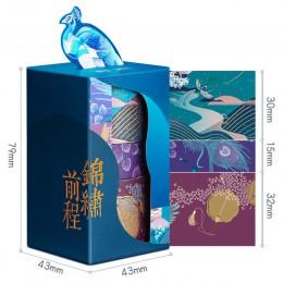 3 sztuk Summer Palace papierowa taśma washi zestaw oryginalny chiński luksusowy styl samoprzylepne taśmy maskujące do szminki ka