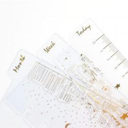 """Domikee śliczne kreatywny 6 otwory binder notatnik organizator złota folia indeks dzielnik zakładek """" hotele """"oraz """" wynajem sam"""