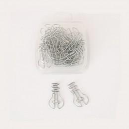 20 sztuk/partia żarówki kształt spinacze do papieru kreatywny ciekawe zakładka do książki klips do notatek w kształcie spinacze