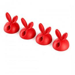 4 sztuk/worek Winder Wrap przewód na kable biurko w kształcie królika drutu organizator z klipsem oszczędność miejsca akcesoria
