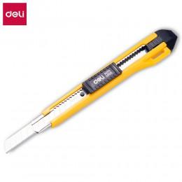 DELI E2031 Cutter Wood Box gilotyna do papieru automatyczna blokada SK5 Metal Stationery Utility nóż do rękodzieła nóż do cięcia