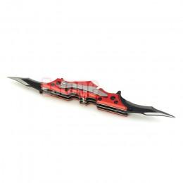 Odkryty Batman dwa podwójna podwójna kieszeń Bladed składany nóż narzędzie mroczny rycerz