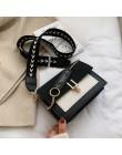 2019 nowe małe torebki kobiety moda ins ultra fire retro szerokie ramię pasek torba torebka proste style Crossbody torby