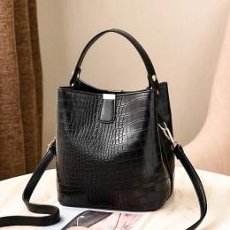 Torebki Retro Alligator wiadro kobiety torebka z wzorem krokodyla pojemność dorywczo torby listonoszki krokodyla panie torebka z