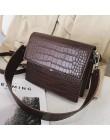 Damska projektant luksusowa torebka 2020 moda nowy wysokiej jakości PU skóra kobiet torebki krokodyla wzór torba na ramię