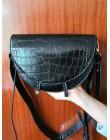 NIGEDU kobiety Crossbody torba moda krokodyl półkole torba siodło PU skórzane torby na ramię dla kobiece torebki projektant bols