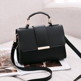 REPRCLA 2020 Summer Fashion torebki damskie torebki skórzane torba na ramię z pu małe torby typu crossbody z klapką dla kobiet M