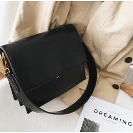 Moda europejska prosta damska designerska torebka 2018 nowa jakość PU skórzana torba damska torba Alligator torby na ramię cross