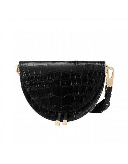 Wzór krokodyla torebki Crossbody dla kobiet półokrągłe torby Pu skórzane luksusowe torebki damskie torebki projektant torba na r