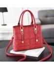 PU skóra duża pojemność kobieta torebka siatka torba na ramię moda na co dzień luksusowy projektant torba damska torebka damska